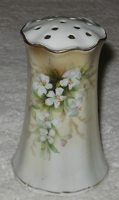 "Antique/Vintage German China Hand Painted Decorated Hat Pin Holder - 4 1/2"" Ht"