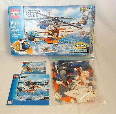 Lego 7738 City Coast Guard Complete Helicopter And Life Raft