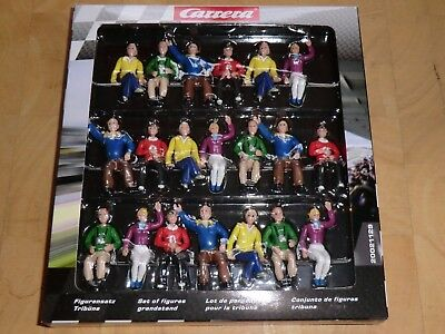 20 Original Carrera 21129 Figurensatz Tribüne Zuschauer 1:32  - neu in OVP