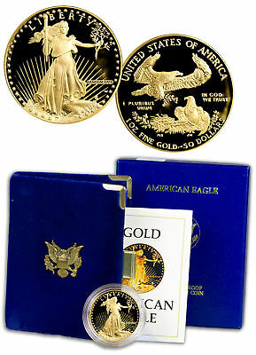Random Date 1 oz Gold American Eagle $50 Gem Proof Coin OGP SKU51610
