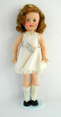 All Original 1950's Ideal ST-12 Vinyl Shirley Temple Doll with Pin Excellent