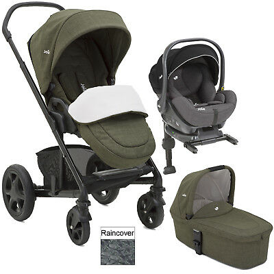 Joie Thyme Chrome Dlx I Level Travel System Carrycot Carseat Isofix Base