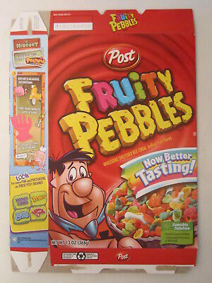 Empty POST Cereal Box FRUITY PEBBLES 2008 13 oz Now Better Tasting! [G7C11h]