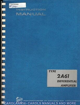 TEKTRONIX Manual TYPE 2A61 DIFFERENTIAL AMPLIFIER