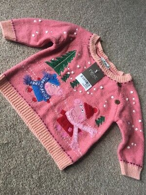 Next Baby Girls Peppa Pig Christmas Winter Jumper 3-6 Months George