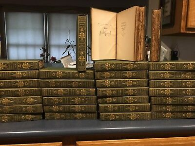 Antique Victorian Charles Dickens' Works Complete 30 Book Set Collier Decorative