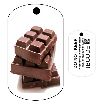 Choccy Chocolate (Travel Bug) For Geocaching - Trackable Tag