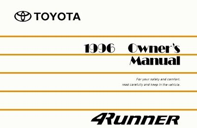 1999 toyota 4runner owners manual user guide reference operator book rh picclick com 1996 toyota 4runner owners manual pdf 1996 toyota 4runner owners manual
