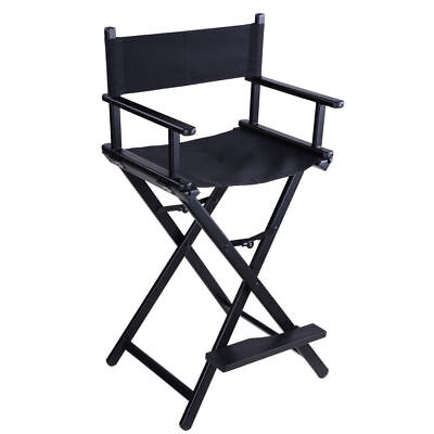 Aluminium Folding Black Makeup Chair Artist Director Painter Salon Tattoo