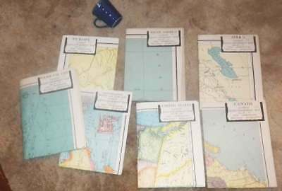 Vintage WWII era map set.. America Map Company. Colorprint General Maps. Giant