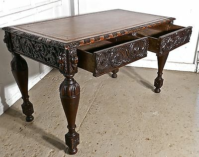 Carved Gothic Oak Writing Table or Centre table