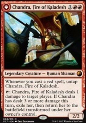[1x] Chandra, Fire of Kaladesh // Chandra, Roaring Flame - Foil [x1] From the Va