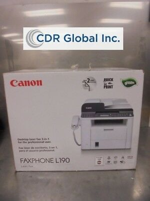 New Sealed Canon L190 3-in-1 Desktop Laser Fax Phone (K397618)