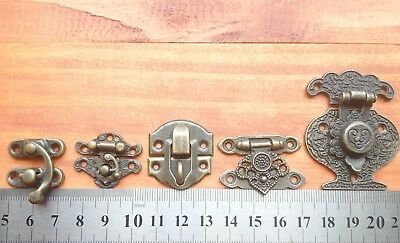 Vintage Style Decorative Jewelry Gift Wooden Box Hasp Latch Hook UK stock