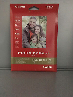 Photo Druckerpapier Canon PP-201 13x18 cm 20 Blatt Photo Paper Plus Glossy II 2