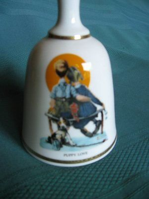 NORMAN ROCKWELL BELL FROM DANBURY MINT – PUPPY LOVE - Price reduced