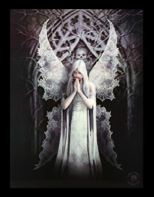 3d CUADRO CON liebes-engel - Only Love Remains por Anne Stokes - FANTASY GOTHIC