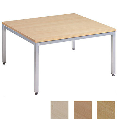 Oak Silver Framed Square Reception Coffee Table