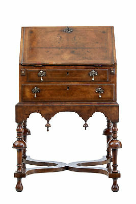 Early 20Th Century Walnut Bureau On Stand