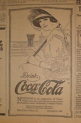 Ad Coca Cola - The Duluth Herald - May 20, 1915 - Single Page Newspaper Ad
