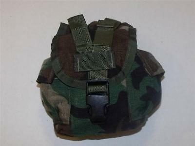 MOLLE II 1 Quart Canteen Utility General Purpose Pouch, Woodland Camo very good
