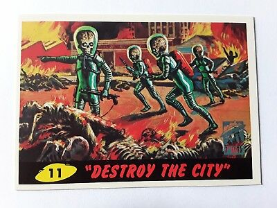 1994 Topps Mars Attacks! Destroy the City #11 1st Day Issue Trading Card