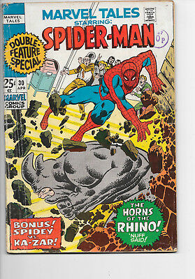 Marvel Tales #30 Spider-Man Bronze Age Marvel Comics VG