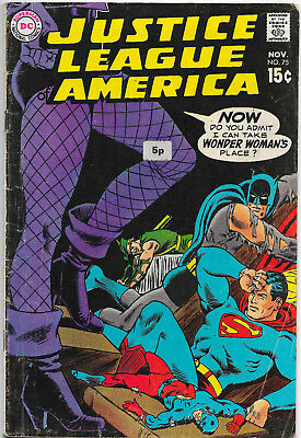 Justice League Of America #75 DC Comics 1st Appearance Black Canary VG/F