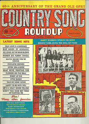 Country Song Roundup #93 April 1966 Marty Robbins Ernest Tubb Eddy Arnold