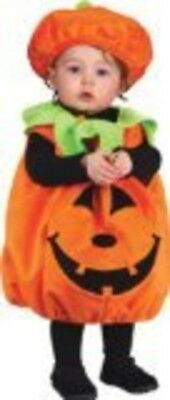 Infant Toddler Classic Pumpkin Costume Tunic and Hat Set Kids Halloween Party