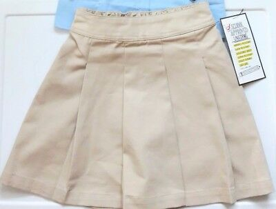 **AWESOME** NWT Girls Uniform Khaki Skirt/Skorts Size XS  by Slazenger
