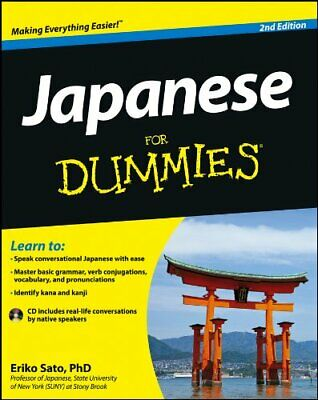 Japanese for Dummies, 2nd Edition with CD by Sato, Eriko Book The Cheap Fast