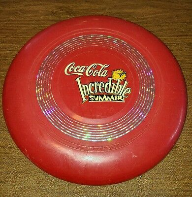 Vintage Coca-Cola light up Frisbee Incredible Summer UF GLO Fi-Shock 1996