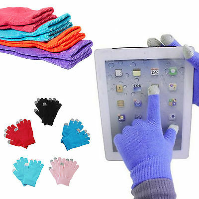 Touch Screen Gloves Soft Winter Men Women Texting Cap Active Smart Phone Knit CN