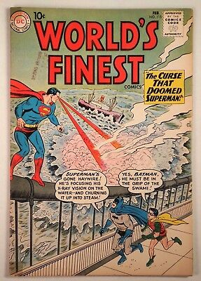"World's Finest Comics #115 (DC 1961) VG/FN ""The Curse that Doomed Superman"""