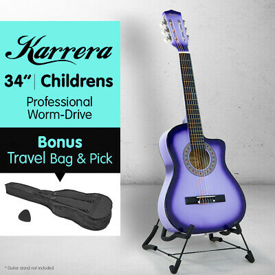 NEW PURPLE CHILDRENS ACOUSTIC GUITAR IDEAL KIDS GIFT 1/2 size