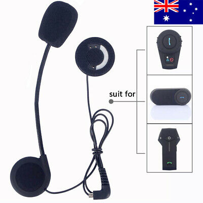 Helmet Mic Speaker Hard Headset For FDC Bluetooth Motorcycle Motorbike Intercom
