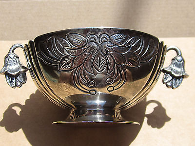 Sanborns Sterling Silver Made In Mexico Small Bowl With Tulip Handles 1900-1940