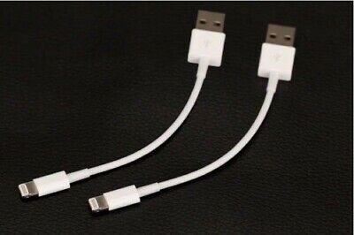 2X Short USB Cable Data Sync Charger Cord for iPhone 5 5S 6 6S 7 8 Plus X i Pad