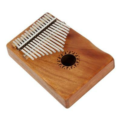 17 Notes Kalimba Thumb Piano for Kids Music Educational Toys Craft Coffee