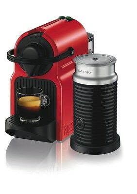 NEW Nespresso BEC200XR Breville Inissia Capsule Coffee Machine - Red