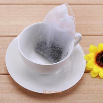 100pcs Empty Teabags String Heat Seal Filter Paper Herb Loose Tea Bags Teabag
