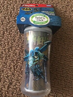 Nwt-Batman -Travel Time Insulated Sport Spout Cup With Twist N' Click 12 Oz