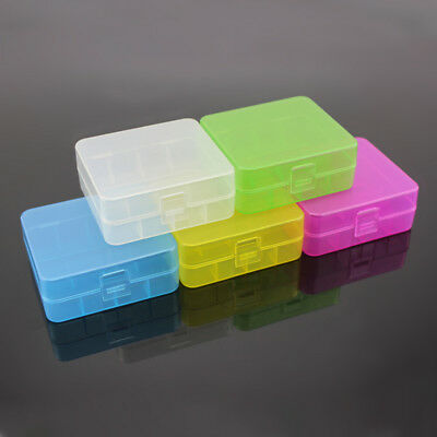 1/5pcs Portable Plastic Battery Case Cover Holder Storage Box for 18650 Battery