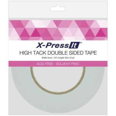 """X-Press It High Tack Double-Sided Tissue Tape -.25""""X55yd"""