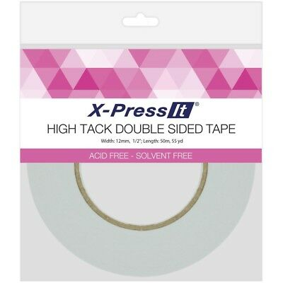 """X-Press It High Tack Double-Sided Tissue Tape -.5""""X55yd"""