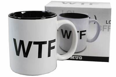 "Text Talk "" Wtf "" Novelty Gift Boxed Coffee Mug Cup"