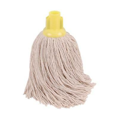 2Work 14oz Twine Rough Socket Mop Yellow Pack of 10 PJTY1410I