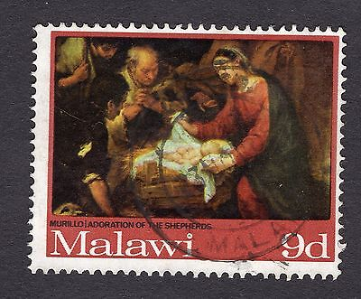 1968 Malawi 9d The Adoration of the Shepherds SG306 FINE Used R30761