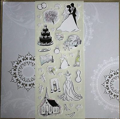 Creative Memories 12x12 Black & White Tie the Knot Additions Kit Scrapbook/Card